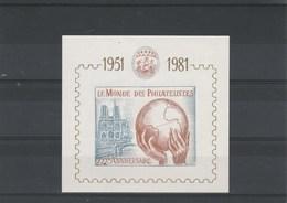 Bloc Feuillet 1951 - 1981 30 è Anniversaire Le Monde Des Philatélistes - Illustration Bateau Et Notre Dame De Paris - Autres