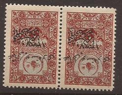 TURQUIE ANATOLIE 1921 Overprint / Surcharge OSMANLI POSTALARI 1337 -  Hejaz Railway -YVERT N° 47 Paire - NEUF XX MNH - 1858-1921 Empire Ottoman