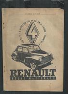 Renault 4CV ,publicité Du Magasine Science Et Vie - Advertising