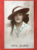 1921 - VIVE MARIE - MARIA - JOLIE FEMME AVEC QEUE TRESSEE ET CHAPEAU - JONG MEISJE MET HAAR IN EEN GEVLOCHTEN STAART - Autres