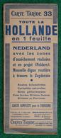 Carte Taride N° 33 - Toute La Hollande En Une Feuille - Cartes Routières