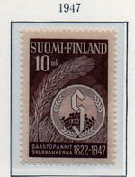 PIA - FINLANDIA - 1947  : 125° Anniversario Della Cassa Di Risparmio -   (Yv   331) - Unused Stamps