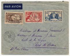 SENEGAL - Belle Enveloppe Affr. Composé Dont 90c Et 1,50 Exposition Internationale De Paris - Dakar Sucoursale 1937 - Lettres & Documents