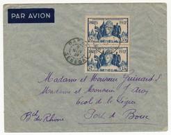 SENEGAL - Belle Enveloppe Affr. Composé 2x 1,50 Exposition Internationale De Paris - Dakar Sénégal 1937 - Sénégal (1887-1944)