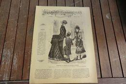 Revue - Journal Des Demoiselles 2 Rue Drouot Paris - 1°album Janvier 1884 - 8 Pages - Stickarbeiten