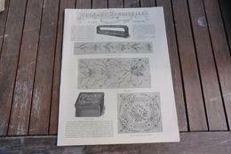 Revue-journal Des Demoiselles 2 Rue Drouot Paris 12°cahier Décembre 1880-8 Pages - Stickarbeiten
