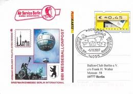 Germany 2007 Berlin 80 Jahre International Aero Philatelic Club Postcard - BRD