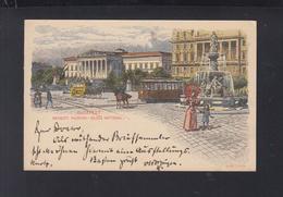 Hungary Stationery National Museum 1896 To Germany - Postal Stationery