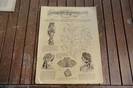 Revue - Journal Des Demoiselles 2 Rue Drouot 8°album Août 1883 - 8 Pages - Stickarbeiten