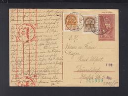 Hungary Stationery Uprated 1941 To Düsseldorf German Censor - Postal Stationery