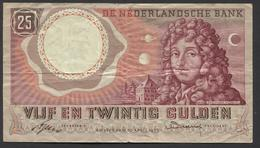 Netherlands  25 Gulden 10-4-1955 - NO: 2 RX 009373  - See The 2 Scans For Condition.(Originalscan ) - [2] 1815-… : Reino De Países Bajos