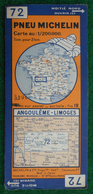 Carte Michelin N° 72 - Angoulême - Limoges - Années 1940 - Roadmaps