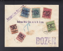Lettera Bolzano Bozen - 8. Occupazione 1a Guerra