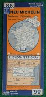 Carte Michelin N° 86 - Luchon - Perpignan - Années 1940 - Roadmaps
