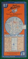 Carte Michelin N° 87 - Wissembourg - Belfort - Années 1940 - Roadmaps
