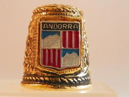 """Dé A Coudre En Métal """" Andorra"""" - Dés à Coudre"""