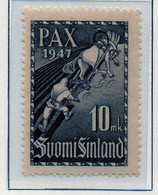 PIA - FINLANDIA - 1947  : Firma Del Trattato Di Pace Con L' U.R.S.S. - L'Eroe Limarinen -   (Yv   323) - Unused Stamps
