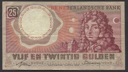 Netherlands  25 Gulden 10-4-1955 - NO: 1 RQ 062190  - See The 2 Scans For Condition.(Originalscan ) - [2] 1815-… : Koninkrijk Der Verenigde Nederlanden