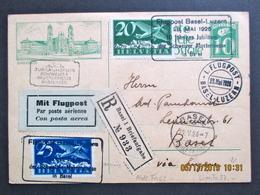 1926 Flugpost (Sujet Einsiedeln), Basel/Mustermesse-Luzern - Luftpost