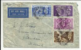 GRANDE BRETAGNE , GREAT BRITAIN ,  Jeux Olympique De Londres , 4 Timbres , 1948 , N° YT 241 , 242 , 243 & 244 - Lettres & Documents