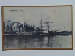 Puglia Bari 35 Monopoli 1919 Prigionieri Di Guerra Comando - Bari