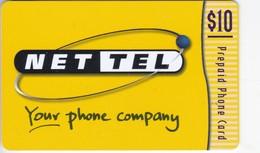New Zealand,  NZ-NET-REF-0002, Net Tel, $10, Lemon & White, 2 Scans. - Neuseeland