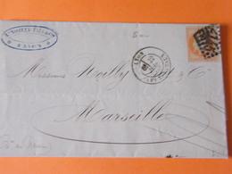 Ceres  No38    Sur Lettre Ttb - 1849-1850 Cérès