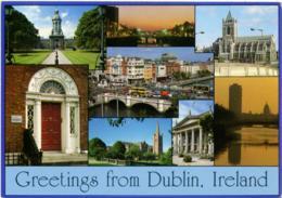 IRELAND  IRLANDA  DUBLIN  Greetings From..  Multiview  EMA Stamp Gaillimh Galway - Dublin