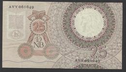 Netherlands  25 Gulden 10-4-1955 - NO: AVY 061649  - See The 2 Scans For Condition.(Originalscan ) - [2] 1815-… : Reino De Países Bajos