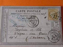 Ceres  No59   Sur Lettre Ttb - 1849-1850 Cérès