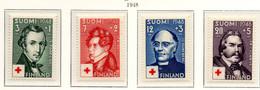 PIA - FINLANDIA  - 1948 : Pro Croce Rossa - Artisti Finlandesi  - (Yv 334-37) - Primo Soccorso