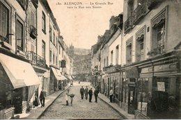 Alençon -    La  Grande  Rue  Vers  La  Rue  Aux  Sieurs. - Alencon