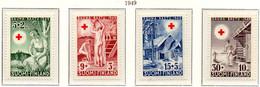 PIA - FINLANDIA  - 1949 : Pro Croce Rossa - Sauna Finlandese  - (Yv 345-48) - Primo Soccorso