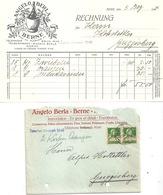 "Motiv Brief  ""Angelo Berla, Kolonialwaren, Bern""            1924 - Lettres & Documents"