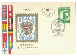 IN105  Österreich, Austria 1959 FDC Europa CEPT + Sonderstempel Sportklub Handelsministerium - FDC