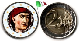 Italie - 2 Euro 2013 - (Giovanni Boccaccio - Colorée) - Italie