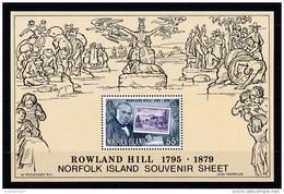 M6230 - Bloc MNH Norfolk Island  1979 - Sir Rowland Hill - Rowland Hill