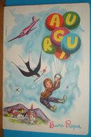 Auguri Buona Pasqua Aereo Bambino Aviatore Palloncini Illustratore Desiderati CARTOLINA Non Viaggiata - Pasqua