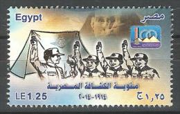 Egypt - 2014 - ( Egyptian Scouting Centenary ) - MNH (**) - Nuovi