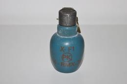 Militaria - Grenade D'Exercice à Identifier N°3- INERTE - Arme à Feu - Munition / Artillerie / Obus / Missile - Decotatieve Wapens