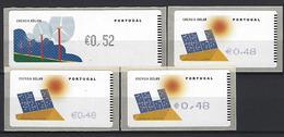 PORTUGAL - Labels - Solar / Wind Energy (4 Different Labeling Machines) - Protection De L'environnement & Climat