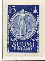 PIA - FINLANDIA - 1949  : 100° Anniversario Del Politecnico Di Helsinki. -   (Yv   360) - Unused Stamps