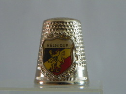 """Dé A Coudre En Métal """" Belgique"""" - Dés à Coudre"""