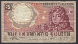 Netherlands  25 Gulden 10-4-1955 - NO: AUU 011556  - See The 2 Scans For Condition.(Originalscan ) - [2] 1815-… : Koninkrijk Der Verenigde Nederlanden