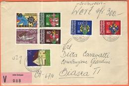 Liechtenstein - 1981 - 7 Stamps + Registered V - Viaggiata Da Schaan, Vaduz Per Biasca, Svizzera - Liechtenstein