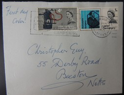 GB 1965 QEII FDC Joseph Lister On Plain Envelope First Day Cover Medical Antiseptic - FDC
