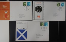 GB 1968 QEII FDC 3 Official Illustrated Covers Regional Wales Scotland Northern Ireland First Day Cover - FDC