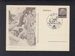 Dt. Reich Bild-PK Narvik 1941 Lothringen Sonderstempel Metz - Entiers Postaux