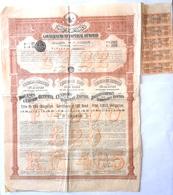 Loan , Bond , Imperial Ottoman Empire , Turkey,   4%, 500 1902 Year - Aandelen