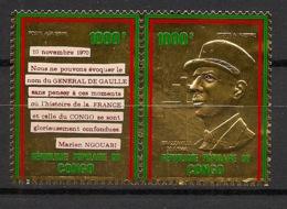 Congo - 1971 - Poste Aérienne PA N°Yv. 135 Et 136  - De Gaulle OR - Neuf Luxe ** / MNH / Postfrisch - De Gaulle (General)